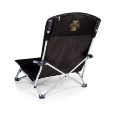 Picnic Time Tranquility Chair - Black (University of Idaho Vandals) Digital Print  The Tranquility Chair is a heavy-duty, fold-flat portable beach chair that has padded armrests and a large zippered p