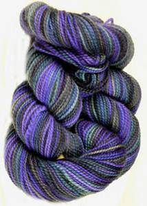 Claudia 4 ply sock yarn, Midnight