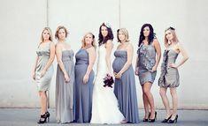 The Secrets for Successful Mismatched Bridesmaids - via Belle The Magazine