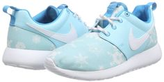 Nike Kids Roshe One Print (GS) Copa/White/Blue Laggon Running Shoe 4 Kids US