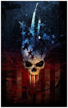☆ American Skull -::- By Artist Dennis Sibeijn ☆