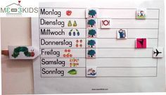 Wochenplaner / Timetable for Kids / Kinder