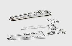 Industrial Design Sketch by Li Qing, via Behance