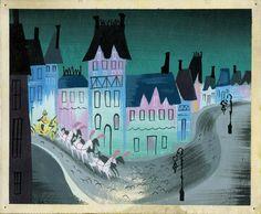 'cinderella', mary blair illustration Mary Blair, Cinderella Cartoon, Bg Design, Graphic Design, Disney Artists, Disney Concept Art, Disney Love, Walt Disney, Vintage Disney