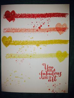 Stampin Up Work of Art card by Stamping Diva Ginny