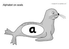 Alphabet on seals (SB8619) - SparkleBox