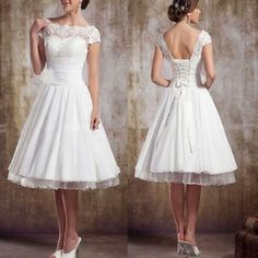 White/Ivory Short Sleeve Vintage Lace Short Wedding Dresses UK 6 8 10 12 14 16 in Clothes, Shoes & Accessories, Wedding & Formal Occasion, Wedding Dresses Short Wedding Dresses Uk, Wedding Dresses Plus Size, Cheap Wedding Dress, Wedding Party Dresses, Cheap Dress, Prom Party, Bridesmaid Dresses, Party Gowns, Trendy Wedding