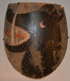 Shield from the 1300s. Similar shields were probably used during the Battle of Visby, it was found in the tower room in Kristdala church.
