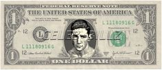 WILLIE PEP - Real Dollar Bill Cash Money Collectible Memorabilia Celebrity Novelty Bank Note Dinero by Vincent-the-Artist, $7.77 USD