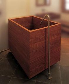 William Garvey Teak Baths- Lovely to look at, but... Japanese BathJapanese  StyleJapanese Soaking ...