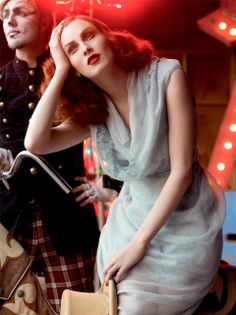 """Life in pics: Editorials: """"Circus"""" - Karen Elson by Steven Meisel"""