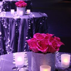 #c2mdesigns #floral #floraldesign #centerpiece #cocktail #hotpink #silver #roses #bling #rhinestone #event #corporateevent #eventdecor #style #contemporary #bcec #boston #nxtevent #designsthatrock #likeC2MdesignsFacebook Designer: #christinemccaffery
