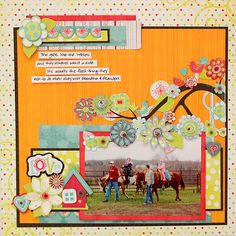 Love the yellow background, it makes everything pop! @Juliana Michaels #bobunny #scrapbooking