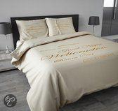 Sleeptime Dekbedovertrekset Welterusten Cream Camel 200x200/220