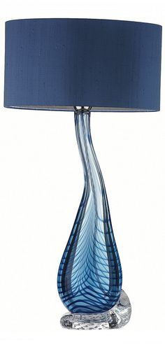 """blue"" blue table lamp, table lamps, modern table lamps, contemporary table…"