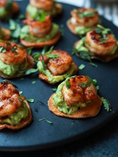 Cajun Shrimp Guacamole Bites | 30 EASY recipes to make for this end-of-summer Holiday weekend | Labor Day Food Ideas