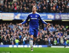 Fernando Torres scores hattrick on 29.4.2012. Chelsea won 6:1 against Queens Park Rangers.