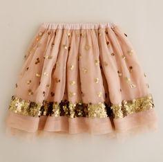 Pink and gold sequins skirt! Little Girl Fashion, My Little Girl, Fru Fru, Marchesa, Sweater Weather, Dress Me Up, Passion For Fashion, Pink And Gold, Lilly Pulitzer