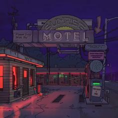 vaporwave videos Sunrise motel signs vacancy free music video futuristic design back to the future 2300 Neon Aesthetic, Aesthetic Movies, Aesthetic Anime, Ps Wallpaper, Anime Scenery Wallpaper, Vintage Wallpaper, Future Wallpaper, Cyberpunk City, Arte Cyberpunk