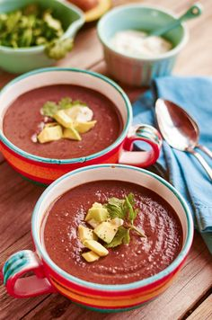 Oh, the simple joy of cozying up next to a bowl of hearty black bean soup! Ours is slow cooked and bold with onion, peppers, garlic, chile and a dash of cumin. Black beans are a protein-fiber powerhouse: they deliver folate, potassium and other B-vitamins to boot. Serve with creamy avocado for a delicious and …