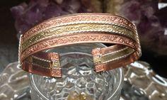 Custom made copper gold silver cuff by 2CraftyLadiesJewelry, $25.00