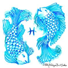 Pisces, today is your day. We love your compassion, strength and artistry. Keep being YOU, sweet water sign. Lilly Pulitzer Prints, Lily Pulitzer, Palm Beach Decor, Painting Inspiration, Cool Art, Art Projects, Print Patterns, Artsy, Hand Painted