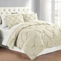 Buy Pintuck King Comforter Set in Grey from Bed Bath & Beyond
