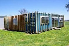 Image result for how to timber clad a shipping container