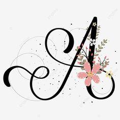 Flower Letters, Flower Frame, Collection Letter, Letter Ornaments, Stylish Alphabets, Hand Lettering Art, Alphabet Wallpaper, Flower Backgrounds, Letter Art