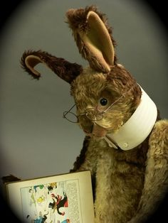 'Reading Rabbit' pinned by Chris on Books, Nooks, Bookmarks @ pinterest.com - I fell in love with him.
