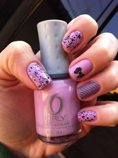 ***Orly - Lollipop + Dollish Polish - Poor Unfortunate Souls*** Duas camadas do Orly e uma do Dollish Polish, usei o top coat Seche Vite, placa de carimbo Cheeky - CH1 e CH6, esmalte de carimbo Blant - Preto.