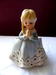 Vintage Planter Little praying girl Inarco by PillowtasticPlus, $10.00