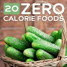 20 Zero Calorie Foods- to help you slim down. The theory behind zero calorie or negative calorie foods is that they contain such a scant amount of calories that the energy you expend eating them cancels out their calories. In essence the bottom line is th Healthy Habits, Get Healthy, Healthy Tips, Healthy Snacks, Healthy Recipes, Paleo Food, Clean Recipes, Paleo Diet, Drink Recipes