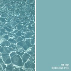 Wouldn't it be cool if you could paint reflecting water??  This is just the name of the paint color, but sure looks awesome!! Sherwin-Williams blue paint color – Reflecting Pool (SW 6981)