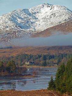 Stob Ghabhar over looking Loch Tulla, Bridge of Orchy, Scotland by David May