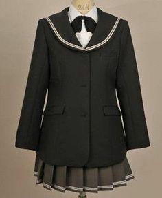 Japanese School Girl Uniform Cosplay Costume Surcoat