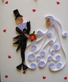Image result for quilling matrimonio