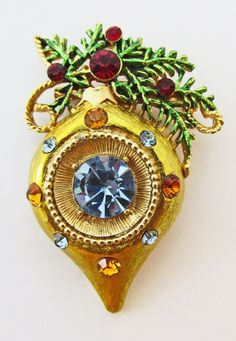Distinctive Vintage 1960s Christmas Tree Ornament by GildedTrifles
