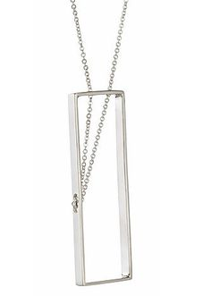 Wright Angle Necklace 115 in Sterling Silver