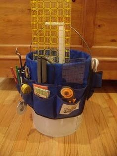Sewing bucket!! Great idea for gorls like me who do not sew all the time!
