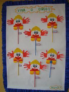 Classroom Crafts, Classroom Themes, Preschool Crafts, Diy Crafts For Kids, Art For Kids, Arts And Crafts, Clown Party, Circus Theme Party, Kids Party Themes