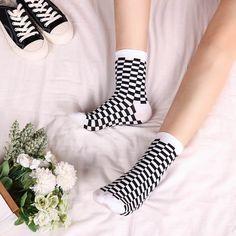 Korea Funky Harajuku Trend Women Checkerboard Socks Geometric Checkered Socks Men Hip Hop Cotton Unisex Streetwear Socks 1 Pair Price: 8.99 & FREE Shipping #fashion|#health|#beauty|#fitness Funky Socks, Cute Socks, Hip Hop, Streetwear, Fall Socks, How To Make Socks, Harajuku, Novelty Socks, Fall Outfits