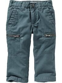 Jersey-Lined Twill Cargo Pants for Baby (2T)