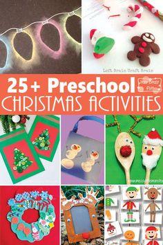 25+ Preschool Christmas Crafts and Activities