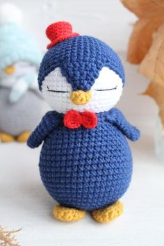 PATTERN – Crochet Penguins Pattern – Pink and Grey penguins pattern,сrochet paterrn,amigurumi pattern,DIY, only in Russian - Stofftiere Crochet Penguin, Crochet Birds, Cute Crochet, Crochet Animals, Crochet Patterns Amigurumi, Amigurumi Doll, Crochet Dolls, Craft Stick Crafts, Stuffed Toys Patterns