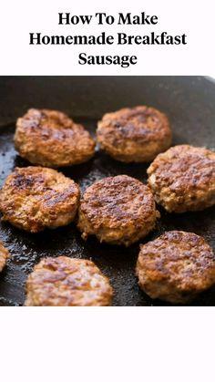 Easy Meat Recipes, Lamb Recipes, Delicious Dinner Recipes, Sausage Recipes, Easy Meals, Homemade Breakfast Sausage, Breakfast Recipes, Brownie Points, How To Cook Pork