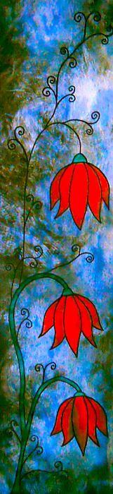 Red lotus flower prints by Laura Carter #flowers #gardens #art