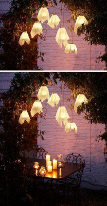Hanging Lights | DIY Halloween Outdoor Decorations