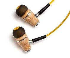 Symphonized NRG Premium Genuine Wood In-ear Noise-isolating Headphones with Mic (Deep Yellow)
