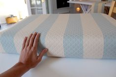 Sewing Cushion Making cushion covers for your camper/trailer Camping Glamping, Outdoor Camping, Camping Stuff, Camping Tips, Camper Cushions, Seat Cushions, Patio Cushions, Making Cushion Covers, Vintage Travel Trailers